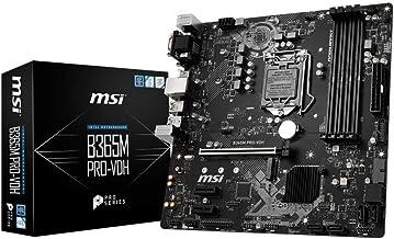 MSI ProSeries Intel B365 LGA 1151 Support 9th/8th Gen Intel Processors Gigabit LAN DDR4 USB/DVI-D/VGA/HDMI Micro ATX Mothe...