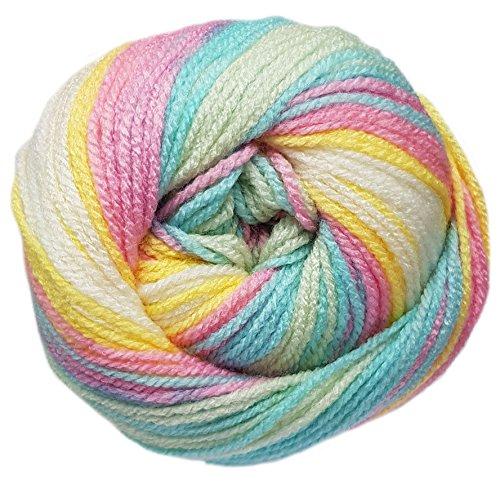 100gr Angora Active Sweet /'n Somber 57797 Pink Lilac Grey Sport Yarn Stripe 546y