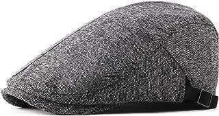 JAUROUXIYUJI New Literary Cotton Beret Cap Casual hat Forward Cap Simple Ladies Beret Spring and Summer Men's hat Retro Golf Cap (Color : Gray, Size : 56-58CM)
