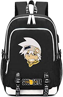Gumstyle SOULEATER Anime Multifunction Schoolbag Travel Bag Laptop Backpack with USB Charging Port and Headphone Jack