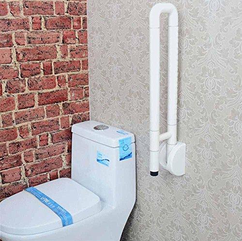 SDKKY-Fashion Tendances, Barrier Free Pliant Accoudoirs de Salle de Bain WC Toilettes handicapés aux Personnes âgées, Rampe, Rampe de sécurité, Plastique, Blanc