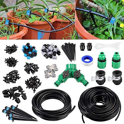 Fugen 40m Garden Watering System, Mist Cooling Irrigation System Sprinkler...
