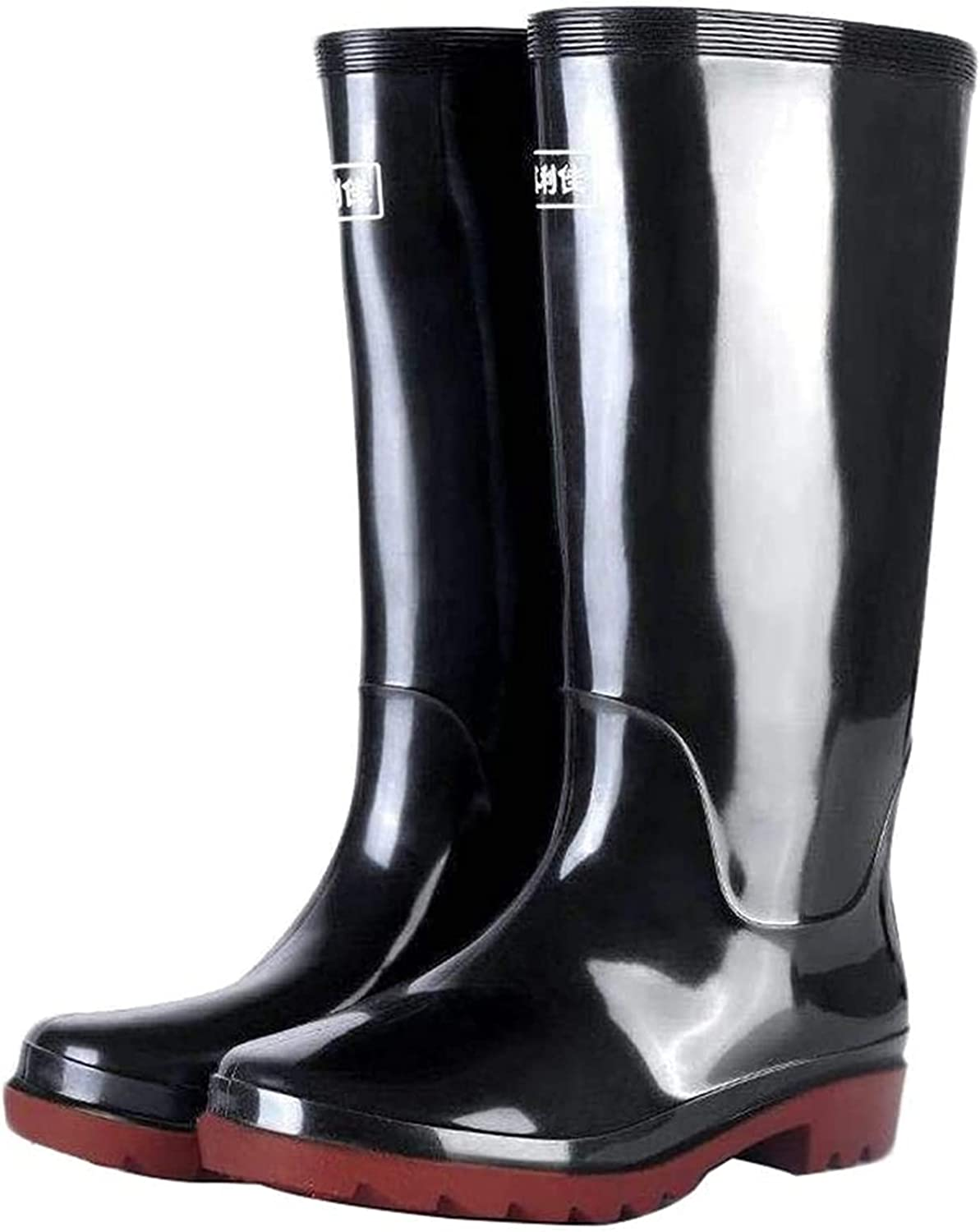 A surprise price is realized YUESFZ rain Boots Black Rain High-top Excellence Men's