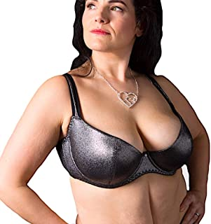 Viva Voluptuous Silver Sparkly Plus Size Low Cut Padded Bra US Sizes
