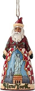 """Jim Shore Heartwood Creek New York Santa Stone Resin Hanging Ornament, 4.5"""""""