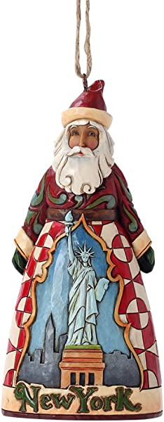 Jim Shore Heartwood Creek New York Santa Stone Resin Hanging Ornament 4 5