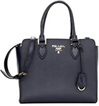 Prada Women's Navy Blue Saffiano Lux Leather Handbag 1BA118