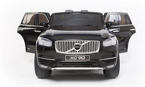 moda Volvo XC90, negro Pintado, producto producto producto BAJO LICENCIA, con mando a distancia 2.4Ghz , apertura de puertas y capó, os asientos en cuero, Ruedas EVA Suave  ahorrar en el despacho