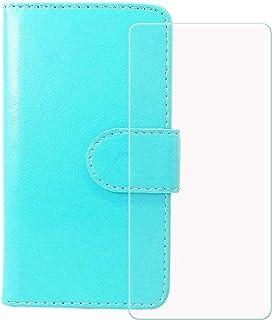 TTJ Mobiltelefonskal för Meizu 17 + pansarglas, HD härdat glas skärmskydd – läder flip plånboksfodral skyddsfodral väska m...