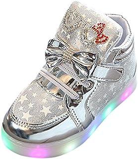 comprar comparacion Riou Zapatillas Deportivas para Niñas LED Zapatos de Princesa Botas Dibujos Animados Antideslizante Zapatos Casuales Fondo...