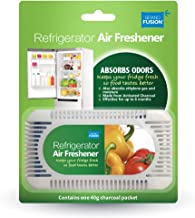Activated Charcoal Refrigerator Air Freshener 3 Pack Set, REMOVES Odor and Moisture Keeping Fridge Smelling Fresh and Food Tasting Better.