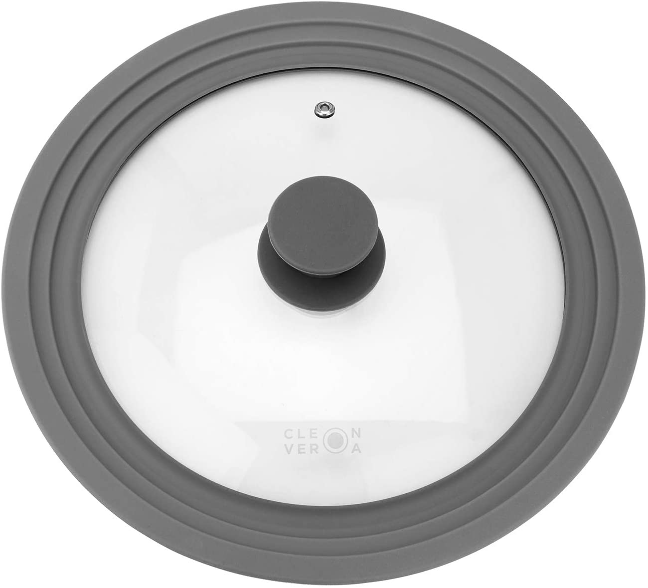 Cleverona Clever Lid, Universal Pot and Pan Lid, Extra Large fits 11, 12 and 12.5 inch Pans, Dark Grey: Home & Kitchen