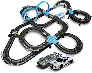 AEDWQ Kids Toy-Electric Powered Slot Car Race Track Set High Speed Electric Super Loop Speedway Slot Car with Two Cars for...