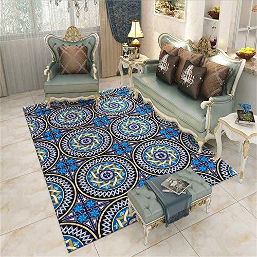 WQ-BBB Alfombras Salon Sin formaldehído Diseño de Estilo étnico Negro marrón Azul alfombras pequeñas 40X60cm