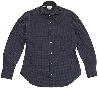 (ジャンネット)GIANNETTO 長袖シャツ メンズ カジュアルシャツ ブルー & ネイビー 正規取扱店