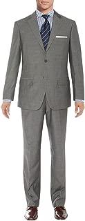Men's Suit Two Button Blazer Plus Flat Front Pants