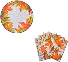 Autumn Harvest/Thanksgiving Decorative Paper Plates and Napkin Set (Leaves)