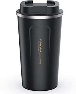MEIGIX Insulated Stainless Steel Travel Tumbler Spill Proof Coffee Mug, for Home, Office, Outdoor, School, Gift, Ice Drinks and Hot Beverage, 17 oz, Water Coffee Cup, PJ-3549