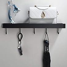 Zwarte badkamer badkamer opbergrek, badkamer rek, zwart rek, handdoek staaf-60cm