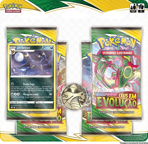 Blister Quadruplo Pokémon Umbreon Espada e Escudo 7 Céus em Evolução