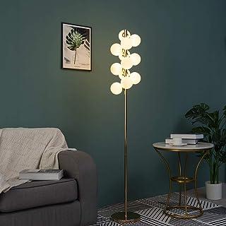 KOSILUM - Lampadaire moderne doré à sphères en verre blanc - Ambrosia - Lumière Blanc Chaud Eclairage Salon Chambre Cuisin...