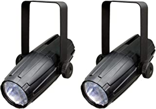 (2) NEW CHAUVET LED PINSPOT 2 High-Power 3W DJ Mirror Ball Spotlights w/RGB Gels