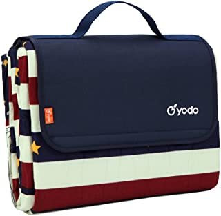 yodo Upgraded Extra Large Picnic Blanket with Polyester Top and Waterproof Backing for Family Outdoor Festivals Concerts