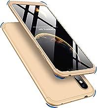 EMAXELER Xiaomi Redmi Note 6 Pro Case 3 in 1 Ultra Slim 360¡ãDegree Full Body Shockproof Protector Hard PC Plastic Anti-Scratch Cover for Xiaomi Redmi Note 6 Pro.3 in 1 PC:Gold