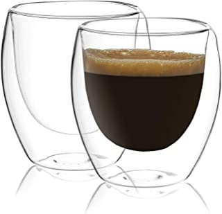 Circleware Thermax Double Wall Insulated Heat Resistant Glass Espresso Shots Set of 2 Home & Kitchen Beverage Drinking Ent...