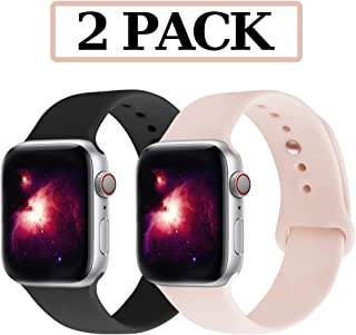 GZ GZHISY Compatible for Apple Watch Band 38mm 40mm 42mm 44mm, Soft Silicone Sport Strap Replacement iWatch Wristbands Compatible for iWatch Apple Watch Series 1, 2, 3, 4, 5
