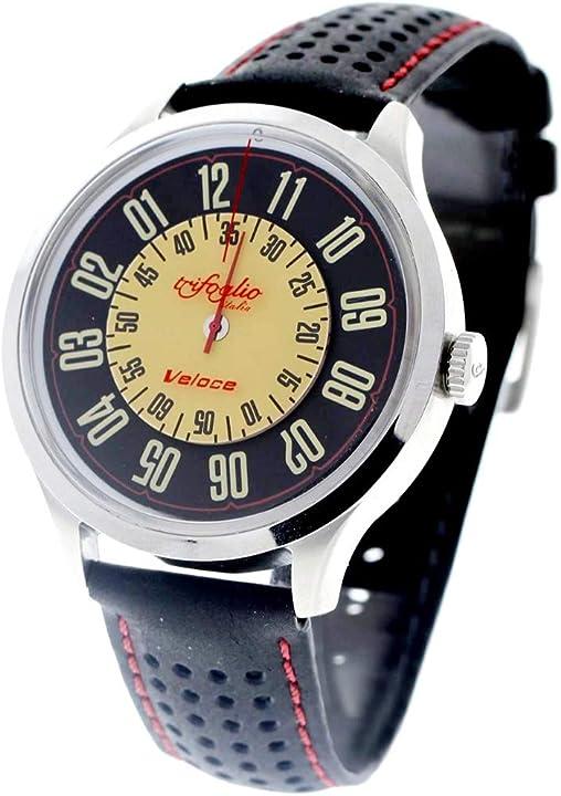 Orologio trifoglio italia orologio analogico automatico acciaio pelle veloce VL311SSBK