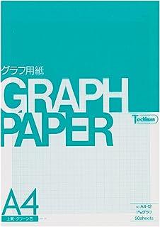 Sakae-shi-gyo Tochiman graph paper 1 mm grid A4 50 sheets Green paper 81.4 g A4-12