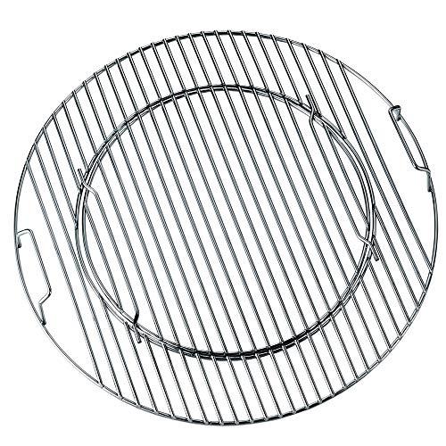 Boomex Grillrost rund Flash 47 cm klappbar Stahl verchromt BBQ-System für Einsatz Wok Pfanne Pizzastein