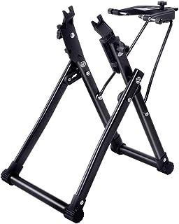 """پایه استوانه چرخ چرخ دوچرخه ، پایه ایستاده لاستیک لاستیک دوچرخه / دوچرخه ، پایه ایستاده مکانیکی خانگی تاشو مناسب برای چرخ های 16 """"- 29"""" 700C ، ابزار تعمیر و نگهداری حاشیه دوچرخه حرفه ای ، مستقیم ایالات متحده"""