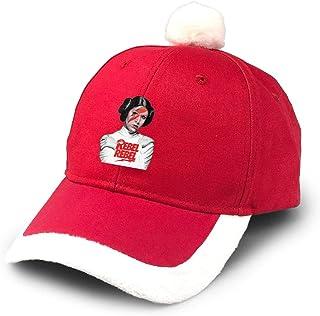 Gorra de béisbol de Papá Noel roja con diseño de Princesa Leia Rebel, para niños, Adultos, familias, Celebraciones de Año Nuevo