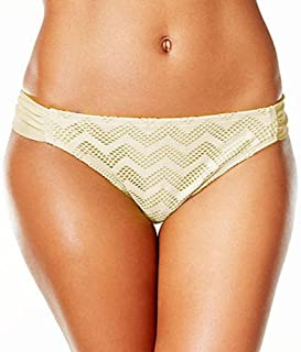 Hula Honey Crochet Hipster Bikini Bottoms Cream X-Large