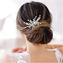 Olbye Wedding Hair Comb Crystal Bridal Hair Accessories Hair Comb for Wedding Head Piece (Silver)