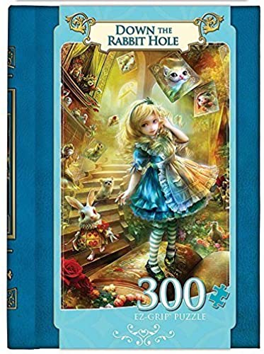 Masterpieces Down the Rabbit Hole EZ Grip Book Box Art by Shu Puzzle (300-Piece) by MasterPieces