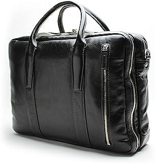 ブリーフケース 本革 メンズ B4サイズ対応 ビジネスバッグ 大容量 出張 通勤 PC収納可能 天然皮革のキャリーオンブリーフ 海老名鞄