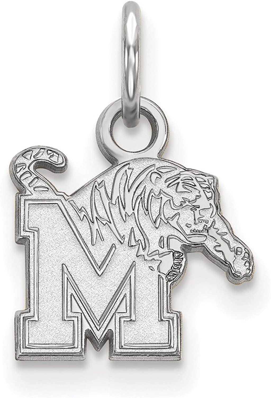 Sterling Silver LogoArt Official Licensed Collegiate University of Memphis (UofM) XS Pendant