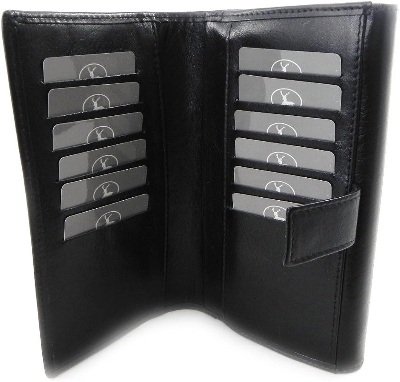 Wallet + checkbook holder leather  Frandi  ecological york black.