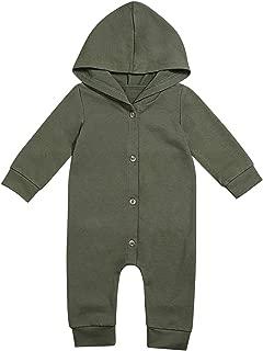 Newborn Baby Boys Clothes Infant Long Sleeve Hoodie Romper Black Bodysuit One-Piece Jumpsuit Outfit
