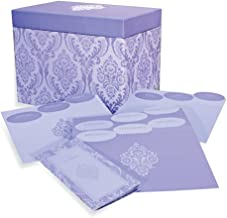 Designer Greetings 711-00005-000 - Deluxe Card Organizer Kit In Decorative Designer Damask Patterned Box Containing Dividers for Month And Type Of Greeting Card And Booklet For Tracking Days To Remember