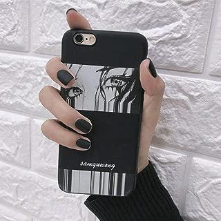 Edary 24Pcs Matte Fake Nails Black Color Nails Full Cover Short False Gel Nails Art Tips Sets for Women