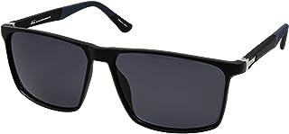 نظارات نمط رترو 5028 C:4 للرجال لون ازرق واسود (لون واحد)، (مستقطبة)