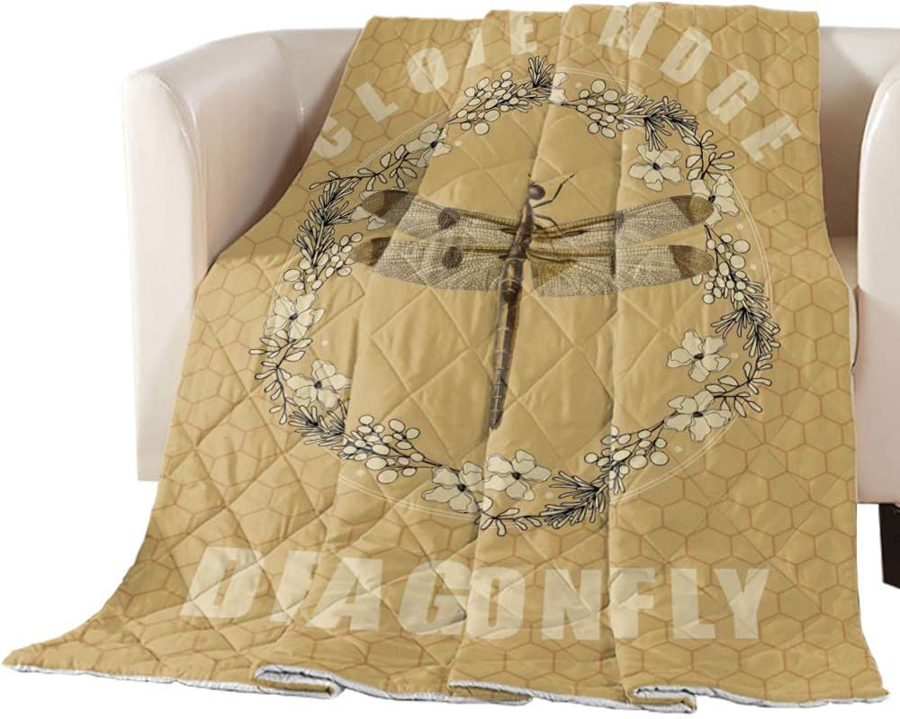 Arts Language Bedspread Quilt Twin Max 84% OFF Max 40% OFF Daisy Dragonfly Size Y Flower