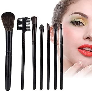 7 Pcs/Kit de Cepillos de Maquillaje, Brochas de Cosmética para Base de Maquillaje y Powder Sombra de Ojos