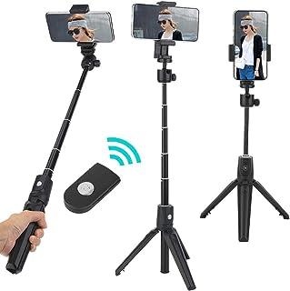 Tripé para bastão de selfie, 2 em 1 Suporte profissional multifuncional portátil para bastão de selfie de Bluetooth para t...