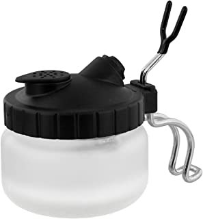 Master Airbrush Deluxe Airbrush 3 in 1 Cleaning Pot with Holder; Cleans Airbrush, Holds Airbrush, Color Palette Lid, Filters