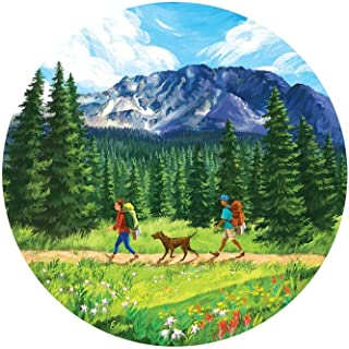 Sticker Art Hit The Trail Backpacking, Mountain Tough Outdoor Stickers, Waterproof Vinyl (4.5